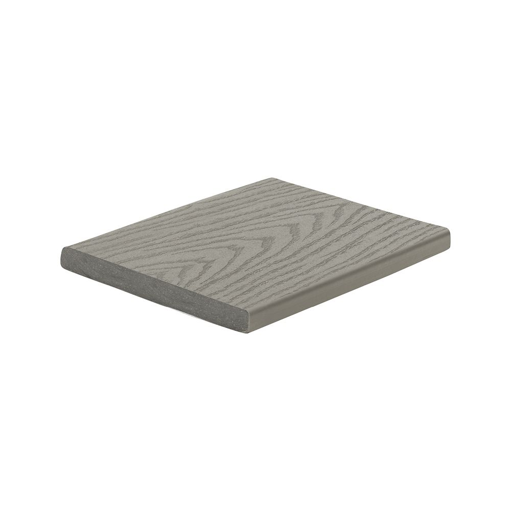 12 Ft. -  Select Composite Capped Fascia Pebble Grey - 1  In. x 8  In.