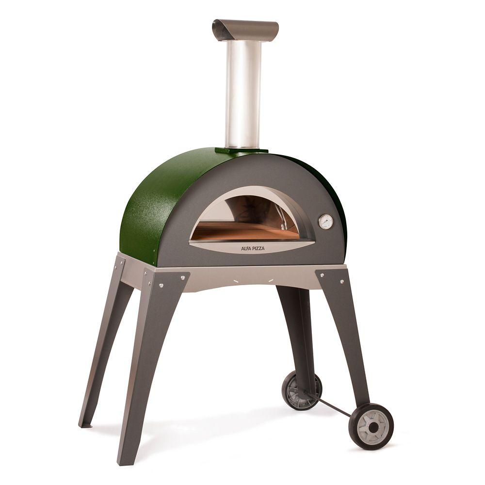 Four à pizza au bois pour lextérieur Forno Ciao incluant chariot. Pré-assemblé (assemblage requis...