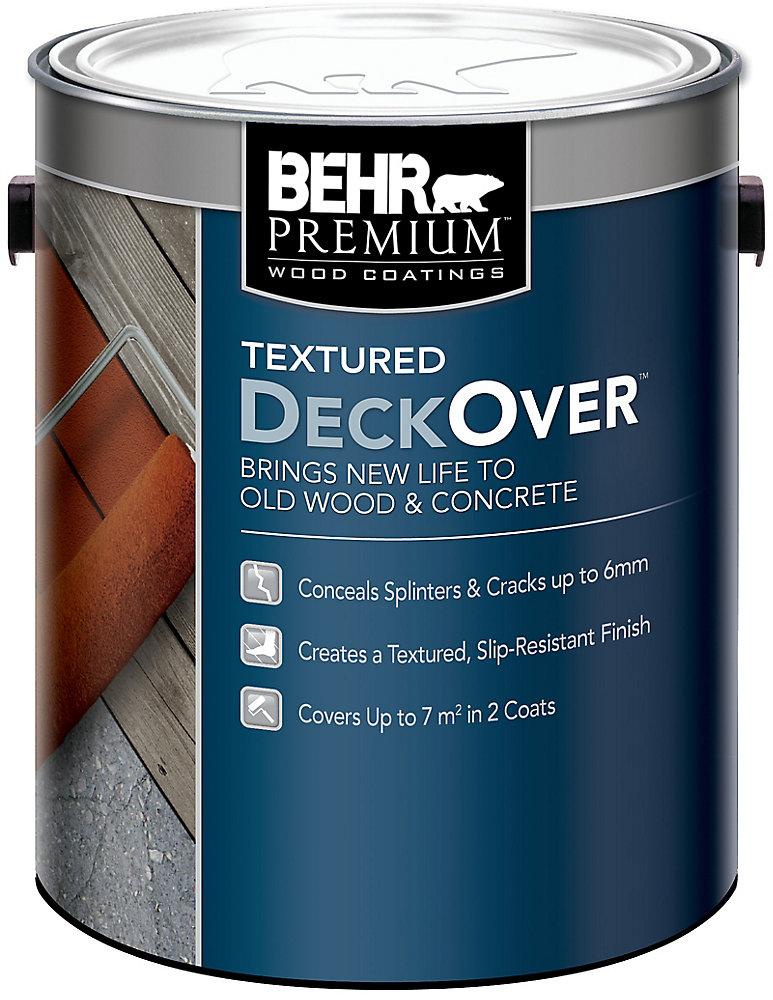 Behr premium textured deckover l the home depot - Exterior textured paint home depot ...
