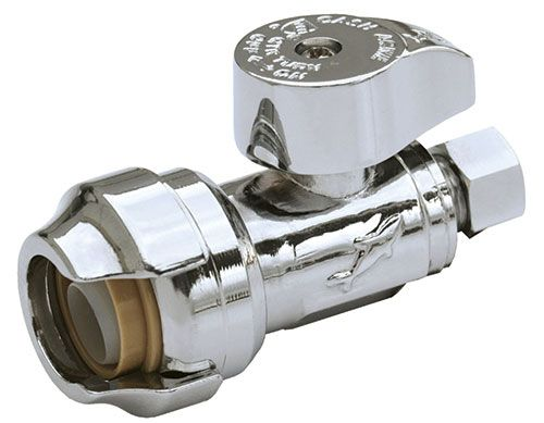 Compression Straight Stop Chrome - 1/2 in. x 3/8 in.