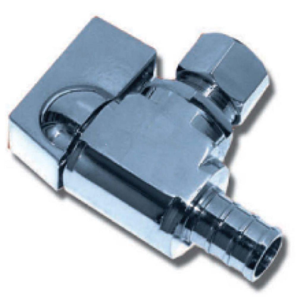 Robinet À Bille À Angle Pex X Compression 1/2 po x 3/8 po