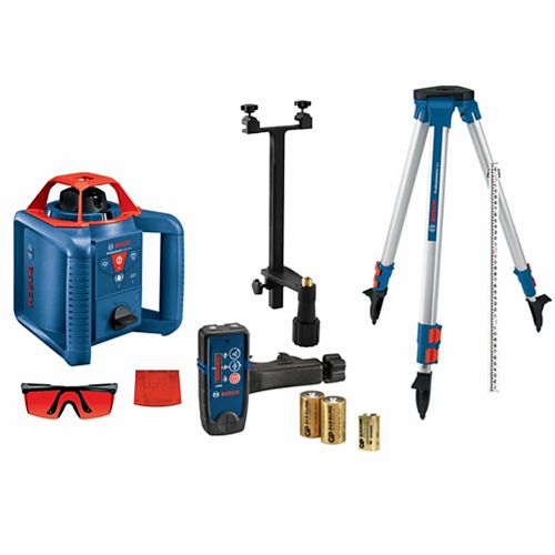 800 Feet. Self-Leveling Rotary Laser Level Kit