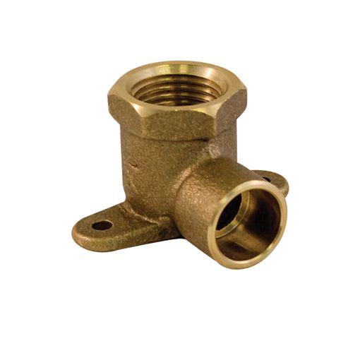 Aqua-Dynamic Fitting Cast Brass 90 Degree Drop Ear Elbow 3/4 Inch Copper To Female