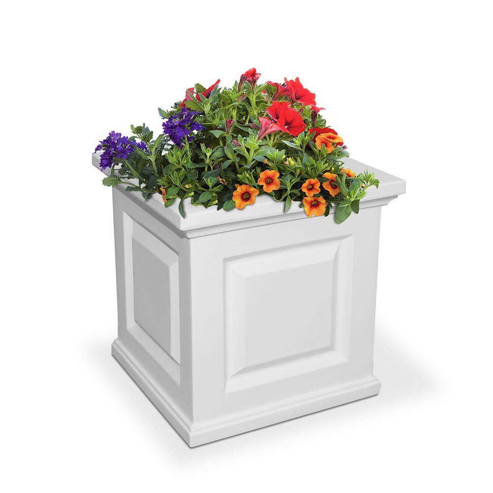 Nantucket 16-inch x 16-inch Planter in White