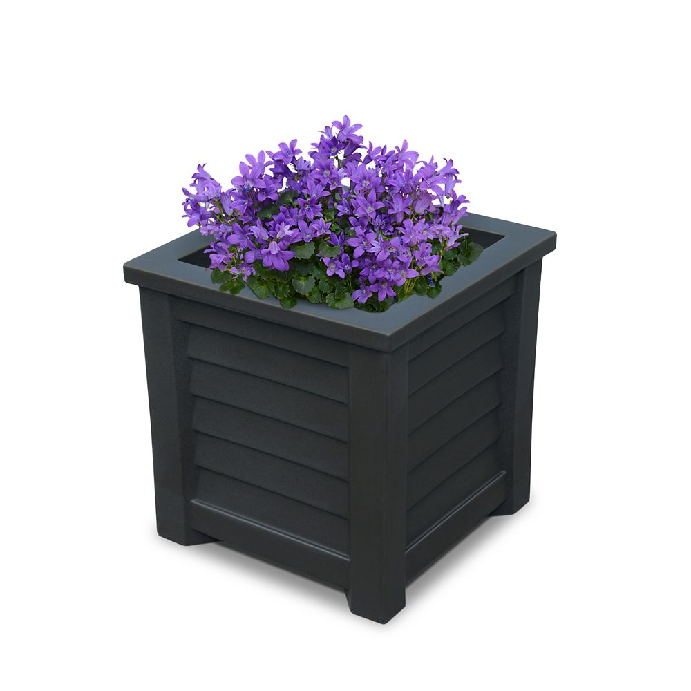 Mayne Lakeland 16-inch x 16-inch Planter in Black