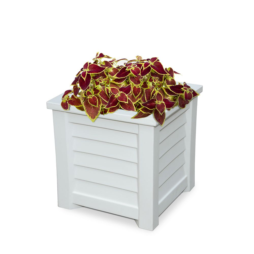 Lakeland 16x16 Planter White