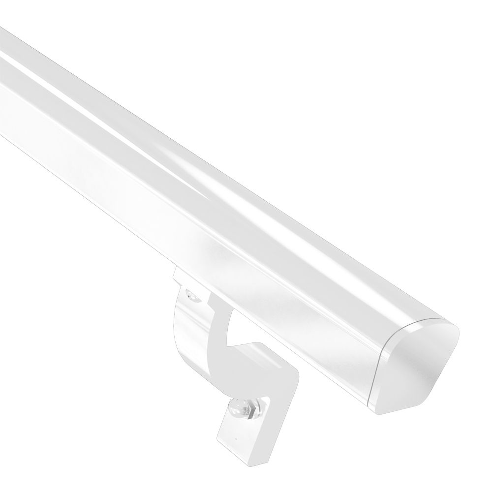 RailBlazers 8 ft. White Continuous Handrail Kit