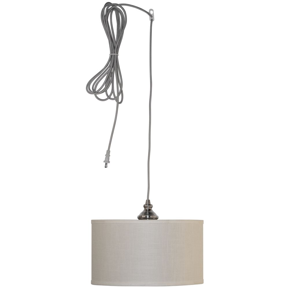 hton bay carroll 1 light 14 in brushed nickel swag