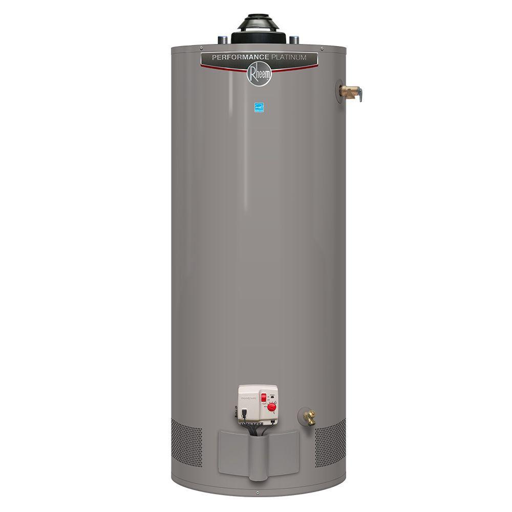 Rheem Performance Platinum 40 Gallon Gas Water Heater With 12 Year Warranty