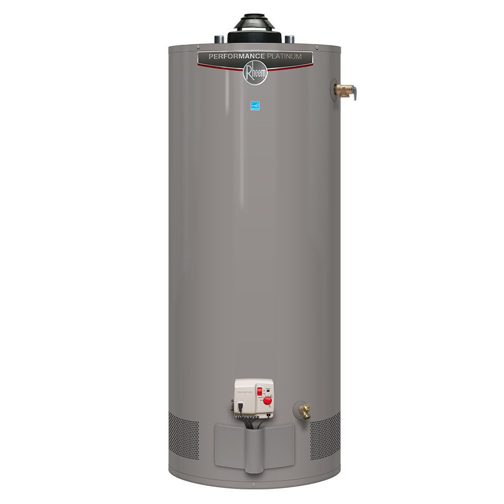 Rheem Performance Platinum 50 Gallon Gas Water Heater with 12 Year Warranty (Approved for BC Mark...