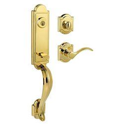 Baldwin Prestige Avendale Single Cylinder Polished Brass Handle Set with Tobin Lever with SmartKey