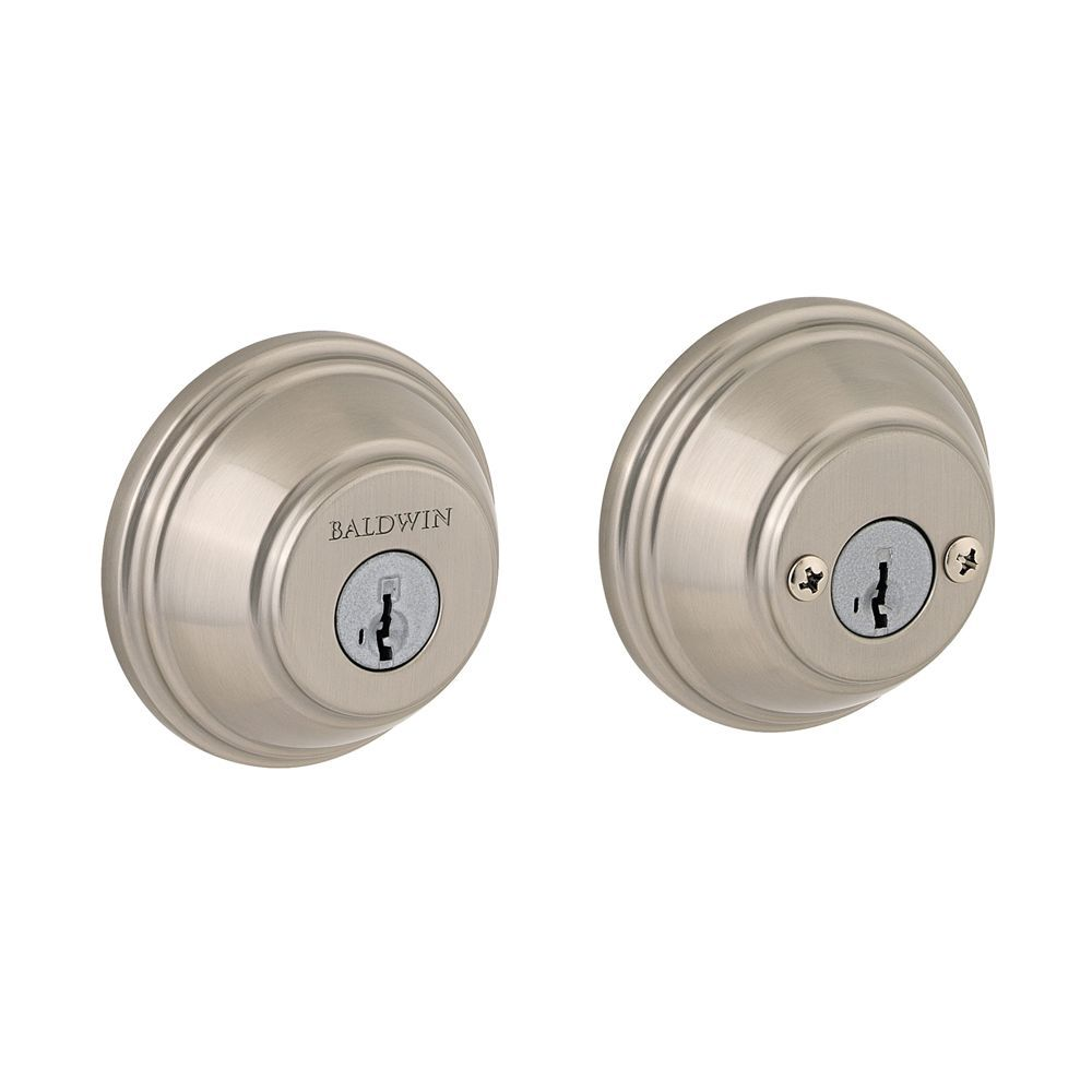Pêne dormant Prestige à cylindre double, fini Satin Nickel