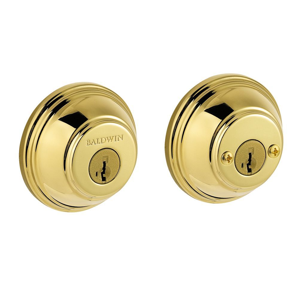 Pêne dormant rond Prestige à cylindre double, fini Polished Brass