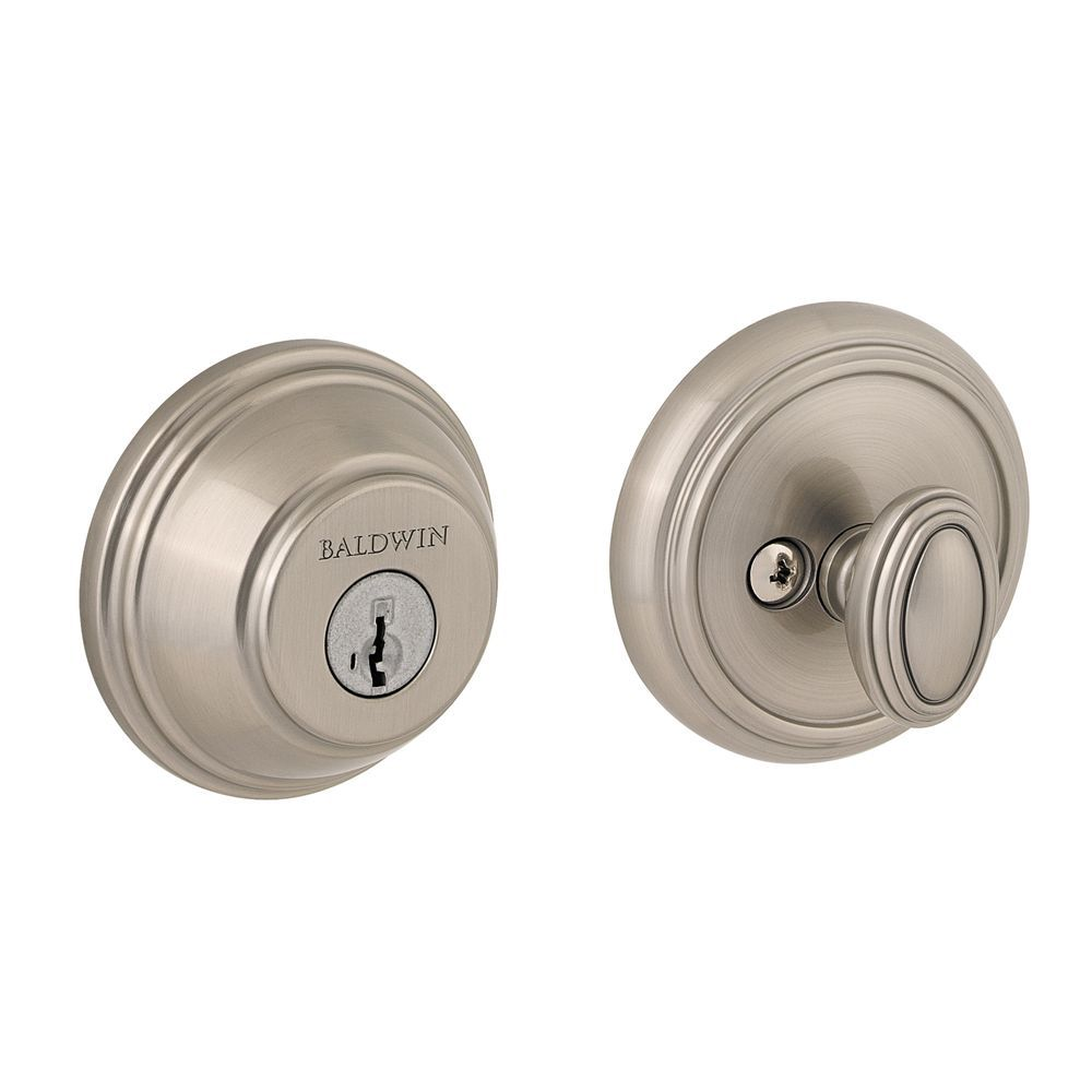 Baldwin Prestige Satin Nickel Single Cylinder Round Deadbolt