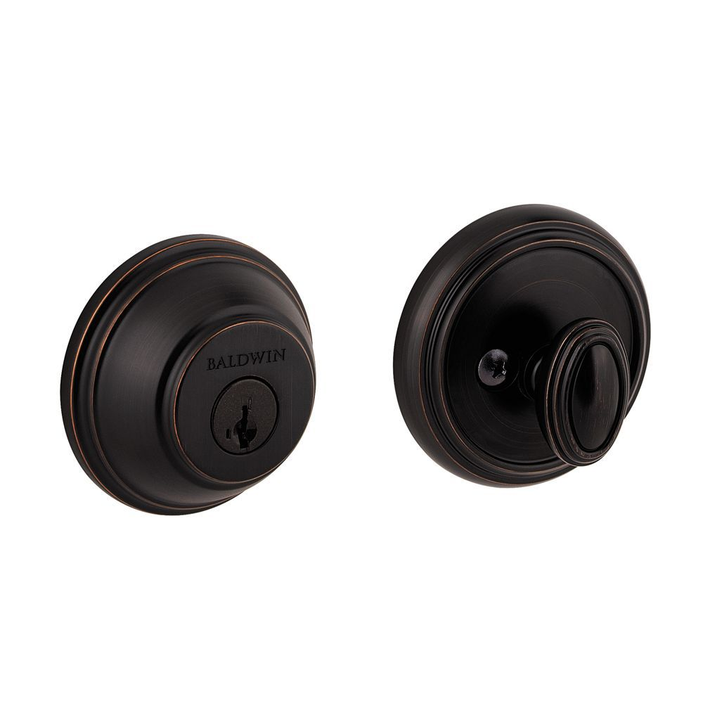 Prestige Venetian Bronze Single Cylinder Round Deadbolt