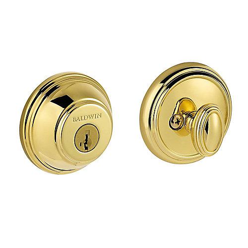 Prestige Polished Brass Single Cylinder Round Deadbolt