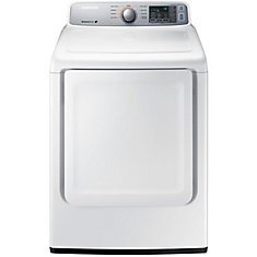 27-inch 7.4 cu.ft. 9-Cycle Front-Load Electric Dryer in White