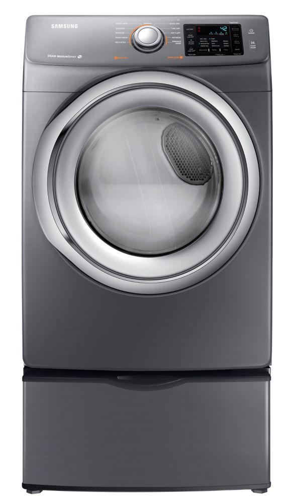 7.5 cu. ft Gas Dryer in Platinum