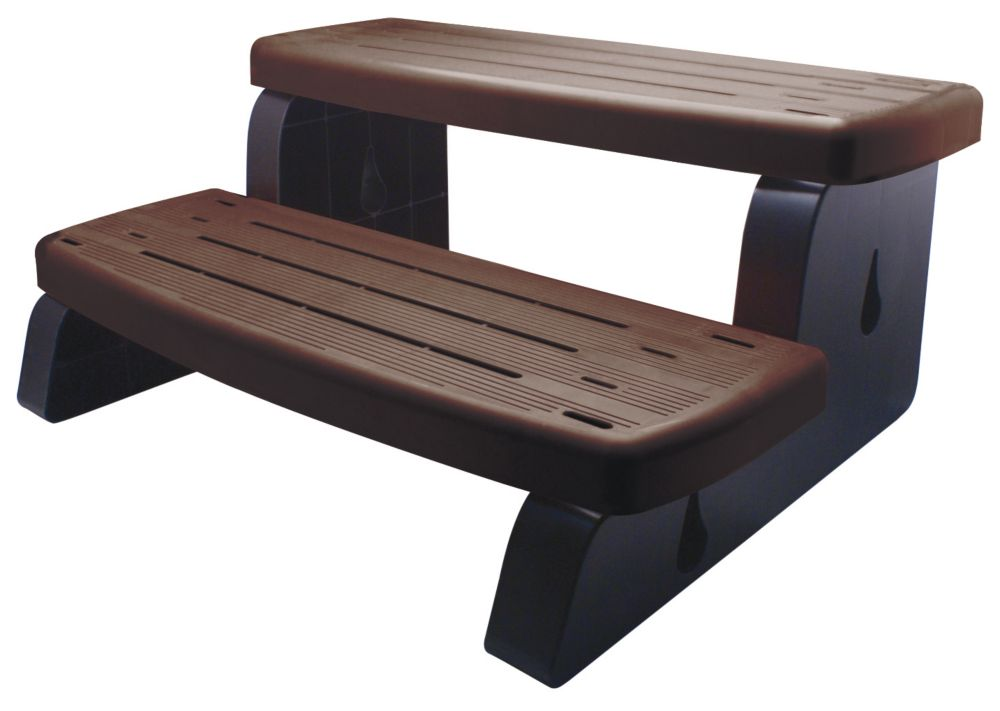 PVC Spa Steps in Brown