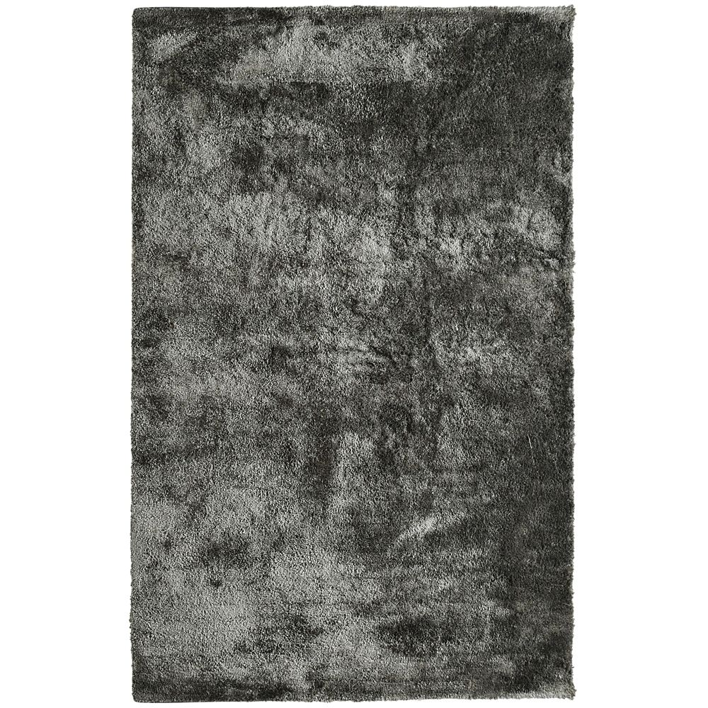 Charcoal Loft Shag 5 Ft. x 8 Ft. Area Rug