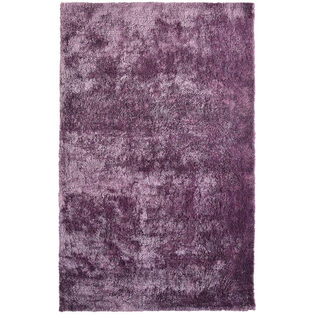 Loft Shag Purple 6 ft. x 9 ft. Indoor Shag Rectangular Area Rug