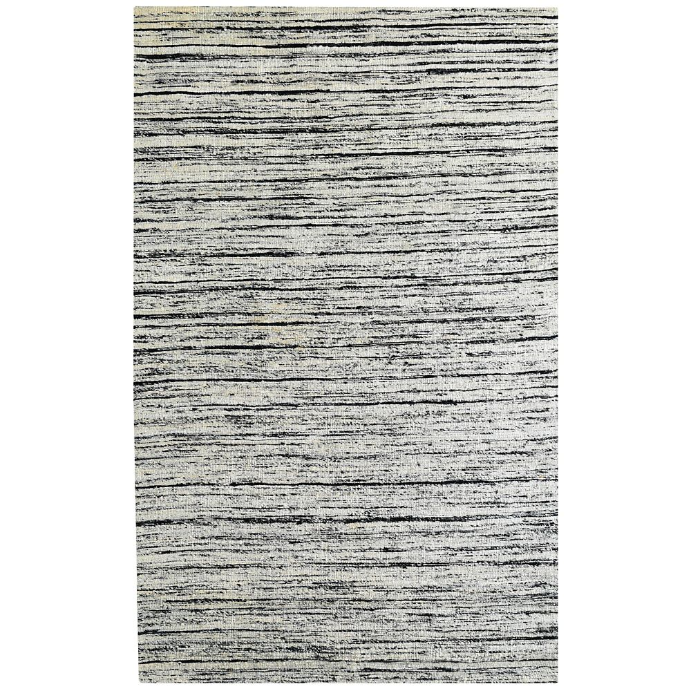SilkWeave Grey 6 ft. x 9 ft. Indoor Textured Rectangular Area Rug