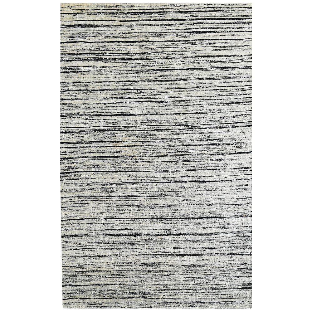 SilkWeave Grey 8 ft. x 10 ft. Indoor Textured Rectangular Area Rug