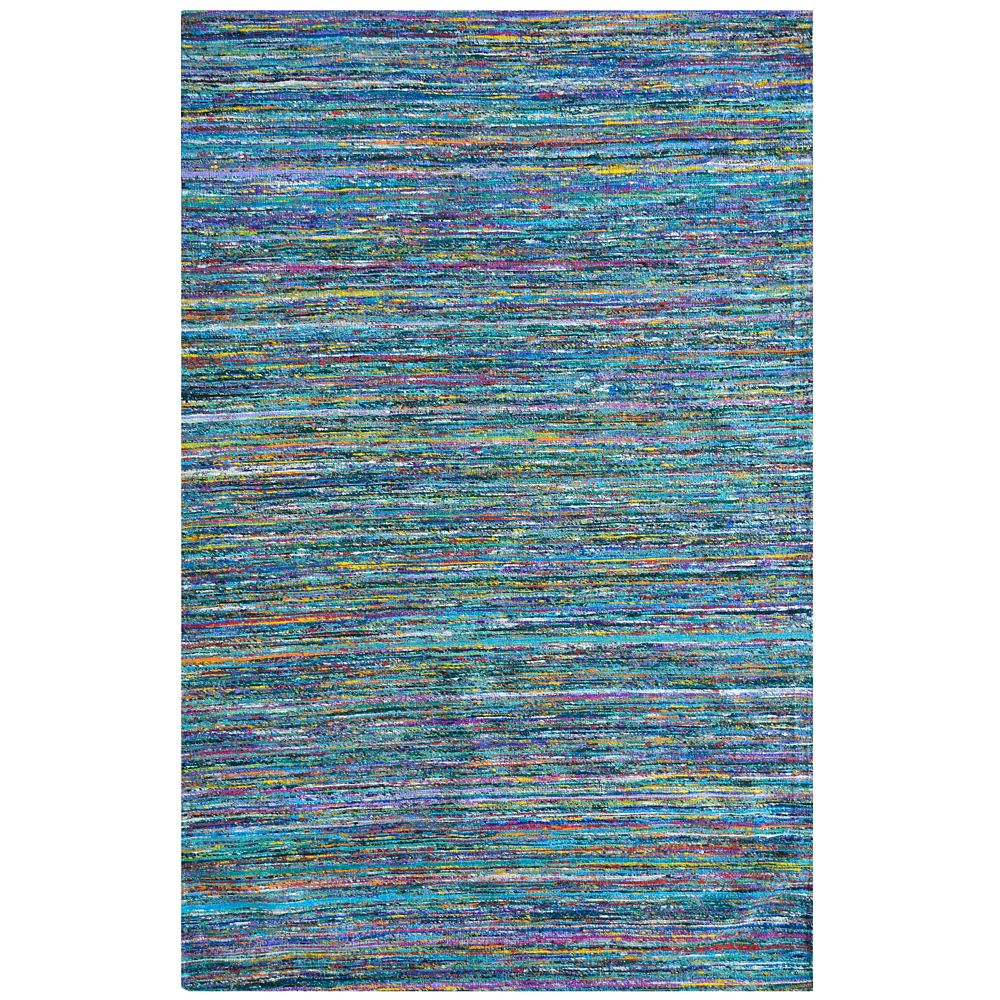 Jewel Blue 6 ft. x 9 ft. Indoor Textured Rectangular Area Rug