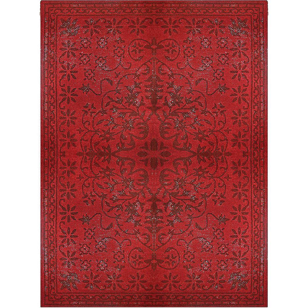 Red Vintage 5 Feet x 8 Feet Area Rug
