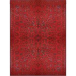 Lanart Rug Vintage Red 5 ft. x 8 ft. Indoor Transitional Rectangular Area Rug