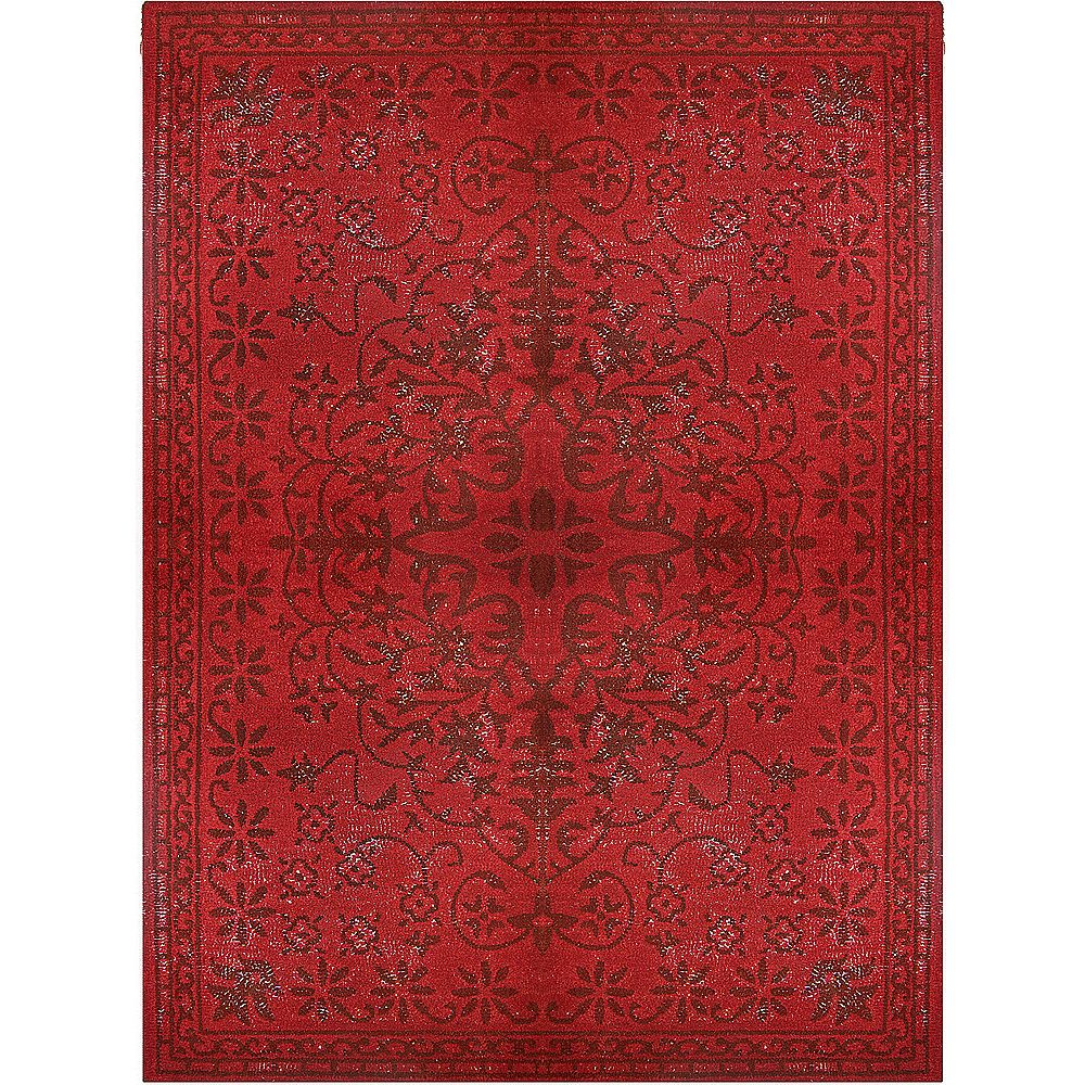 lanart rug tapis vintage rouge 8 pi x 10 pi home depot canada. Black Bedroom Furniture Sets. Home Design Ideas