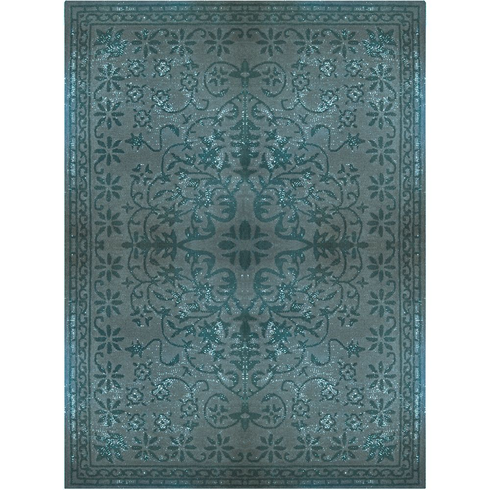 Lanart Rug Vintage Blue 5 ft. x 8 ft. Indoor Transitional Rectangular Area Rug
