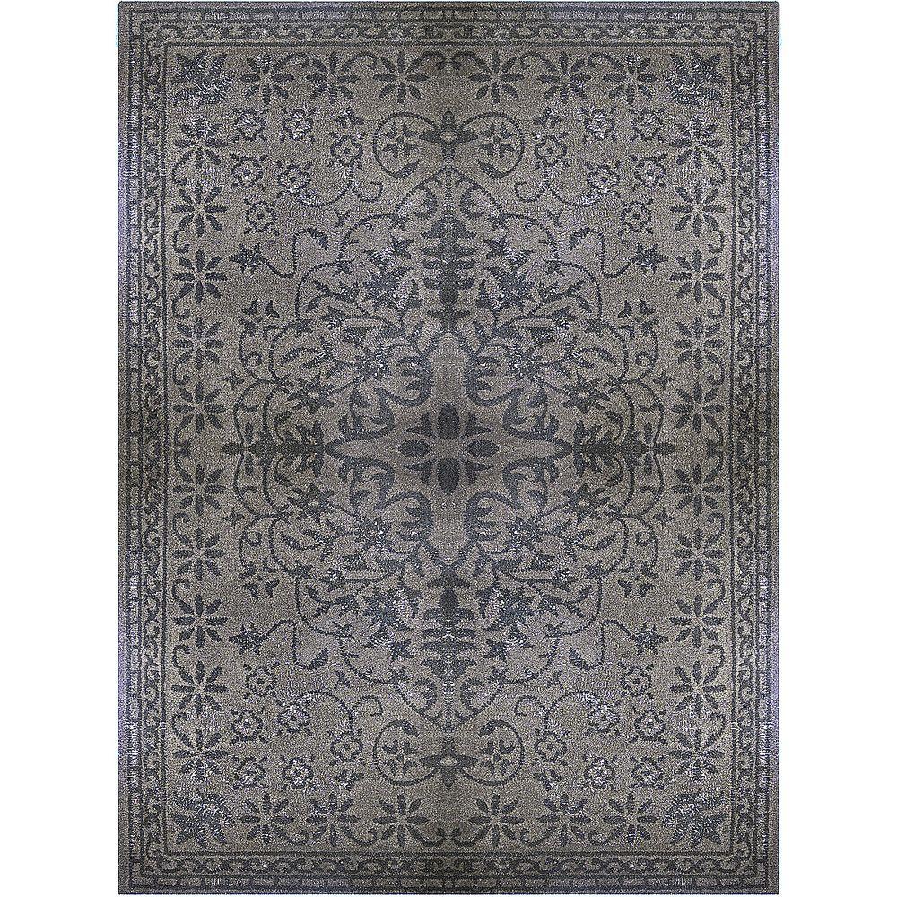 Vintage Grey 8 ft. x 10 ft. Indoor Transitional Rectangular Area Rug