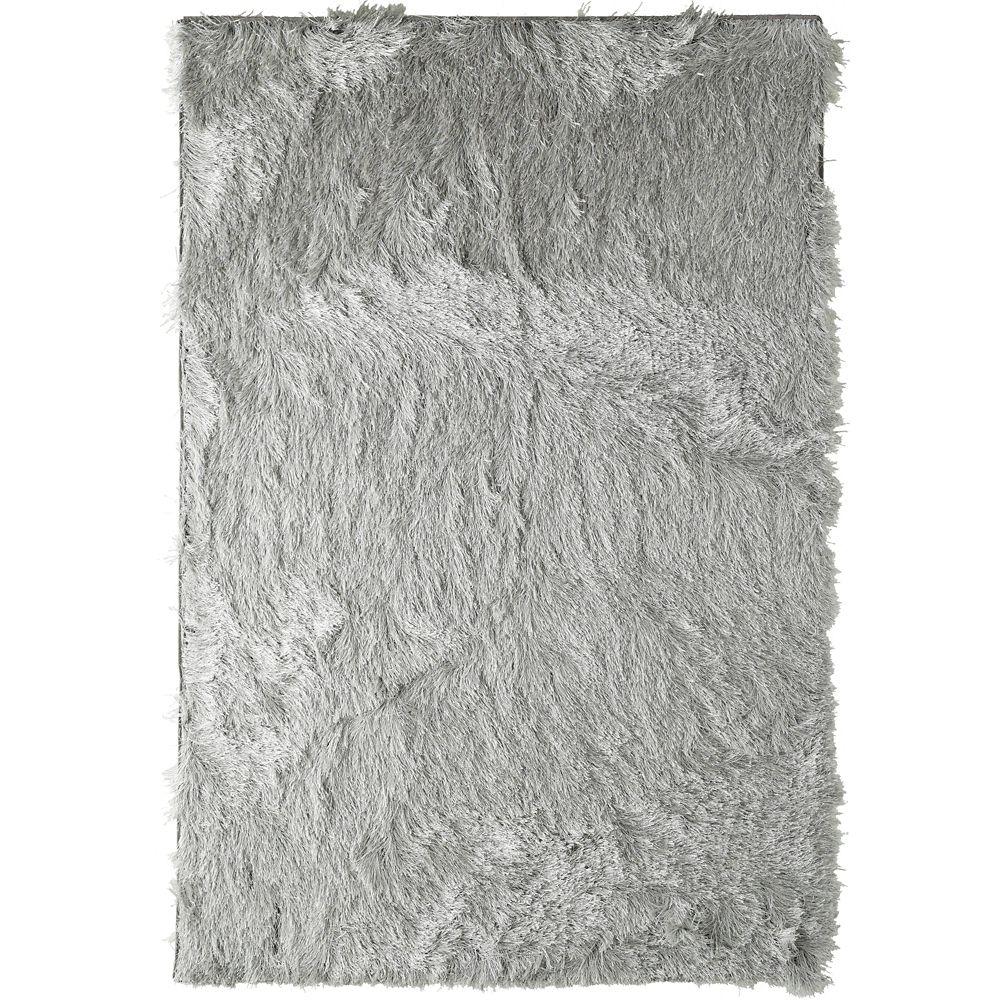 Silver Rebel Shag 3 Ft. x 5 Ft. Area Rug