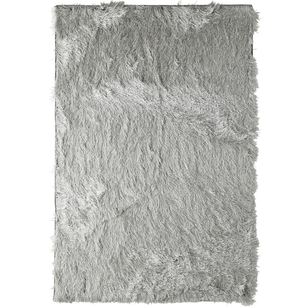 Silver Rebel Shag 5 Ft. x 7 Ft. 6 In. Area Rug
