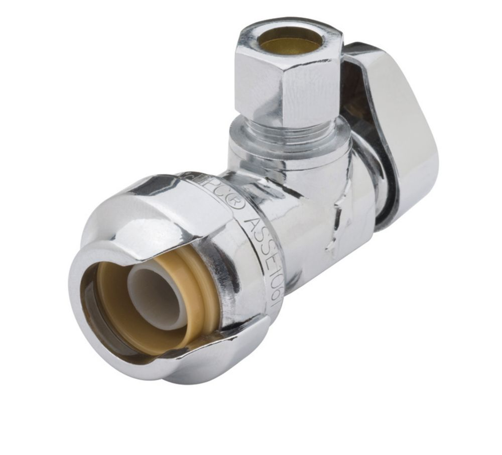 Compression Angle Stop Chrome - 1/2 in. x 3/8 in.