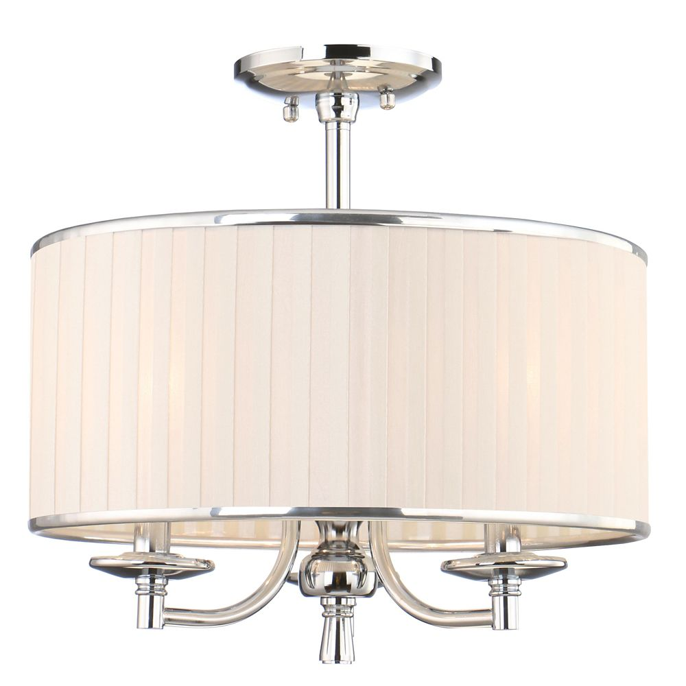 Home Decorators Collection Anya 3 Light 15 Inch Semi Flush