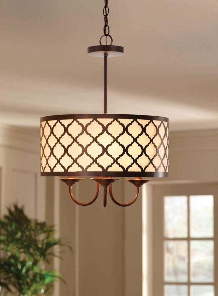 Home Decorators Collection Edgemoor 3 Light 16 Inch Pendant