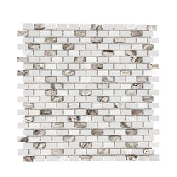 Jeffrey Court Lucky Cove 12.25-inch x 12-inch x 8 mm Glass and Shell Mosaic Wall Tile