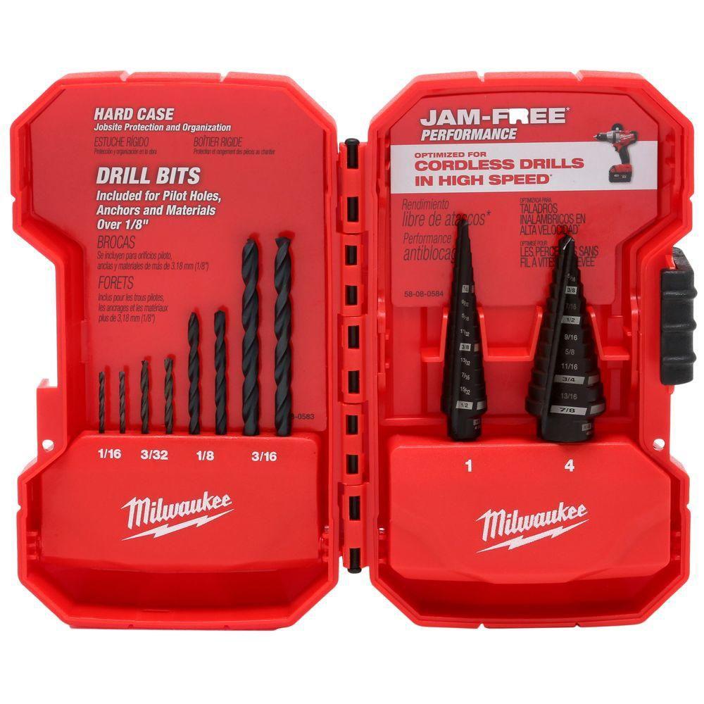 Milwaukee Tool 10-Piece Step Bit and Black Oxide Kit