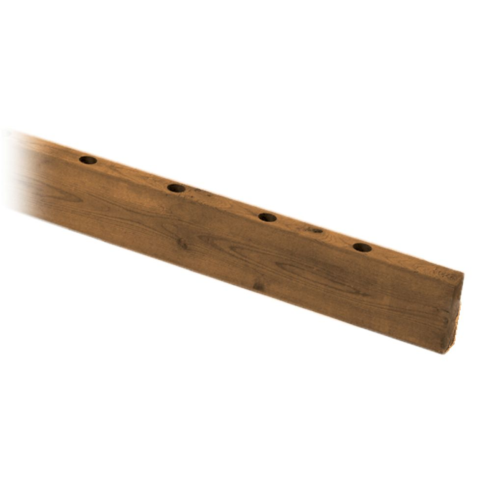 MicroPro Sienna 2 x 4 x 6' Treated Wood Drilled Rail