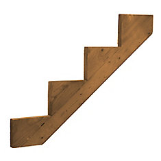 Treated Wood 4 Step Stringer