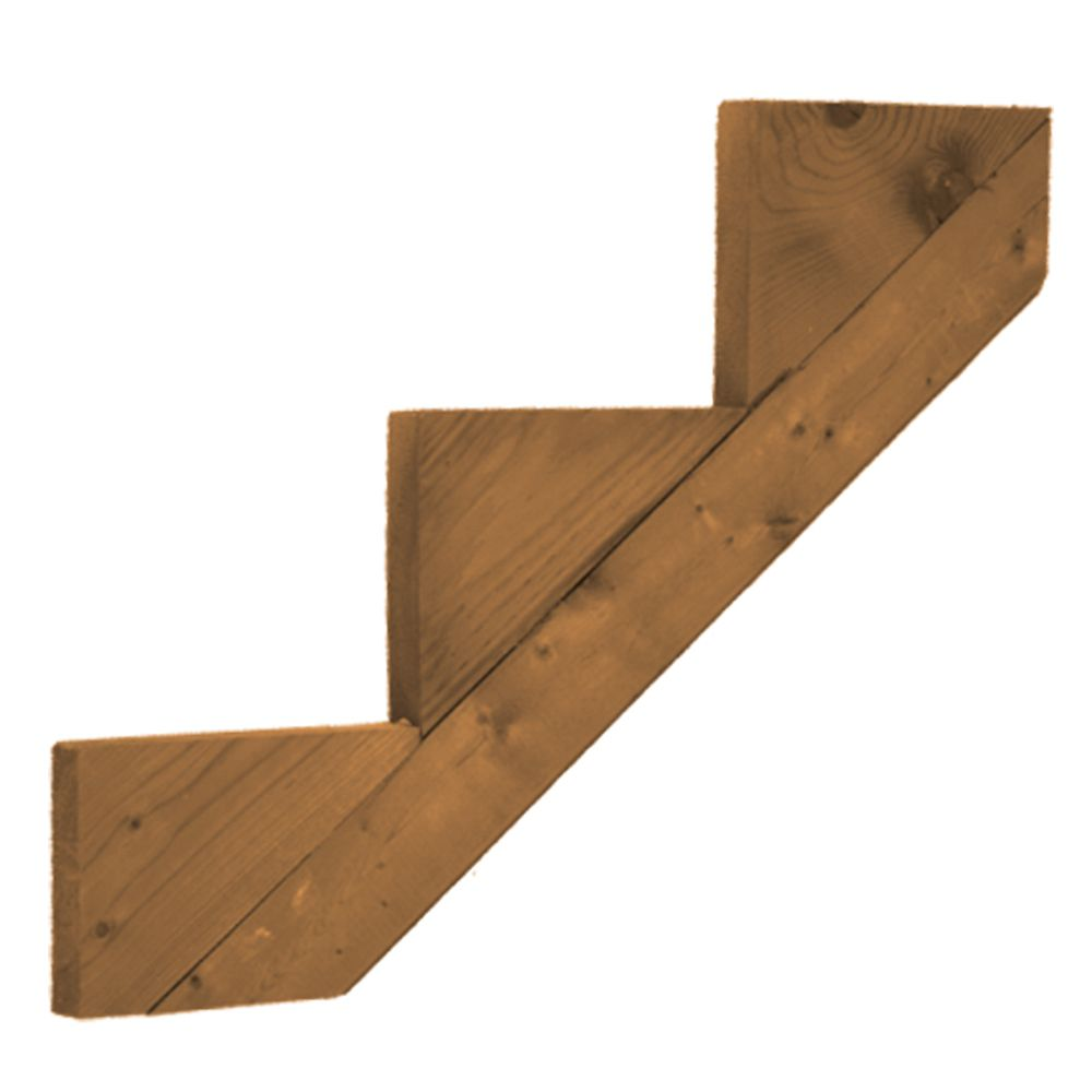 Treated Wood 3-Step Stringer