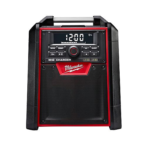 M18 Lithium-Ion Cordless Jobsite Bluetooth Radio and Battery Charger