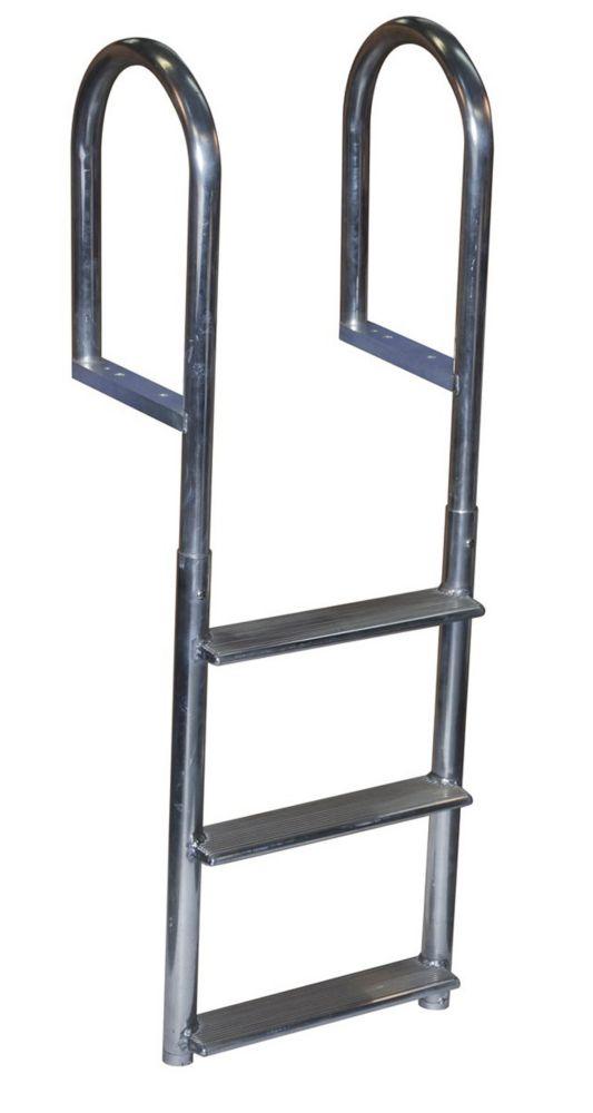 Wide Step Aluminum Dock Ladder, 3 Step