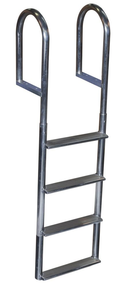 Wide Step Aluminum Dock Ladder, 4 Step