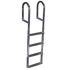 Wide Step Aluminum Dock Ladder, 4 Step