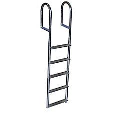 Wide Step Aluminum Dock Ladder, 5 Step