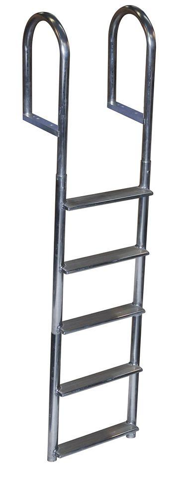 Dock Edge Wide Step Aluminum Dock Ladder, 5 Step