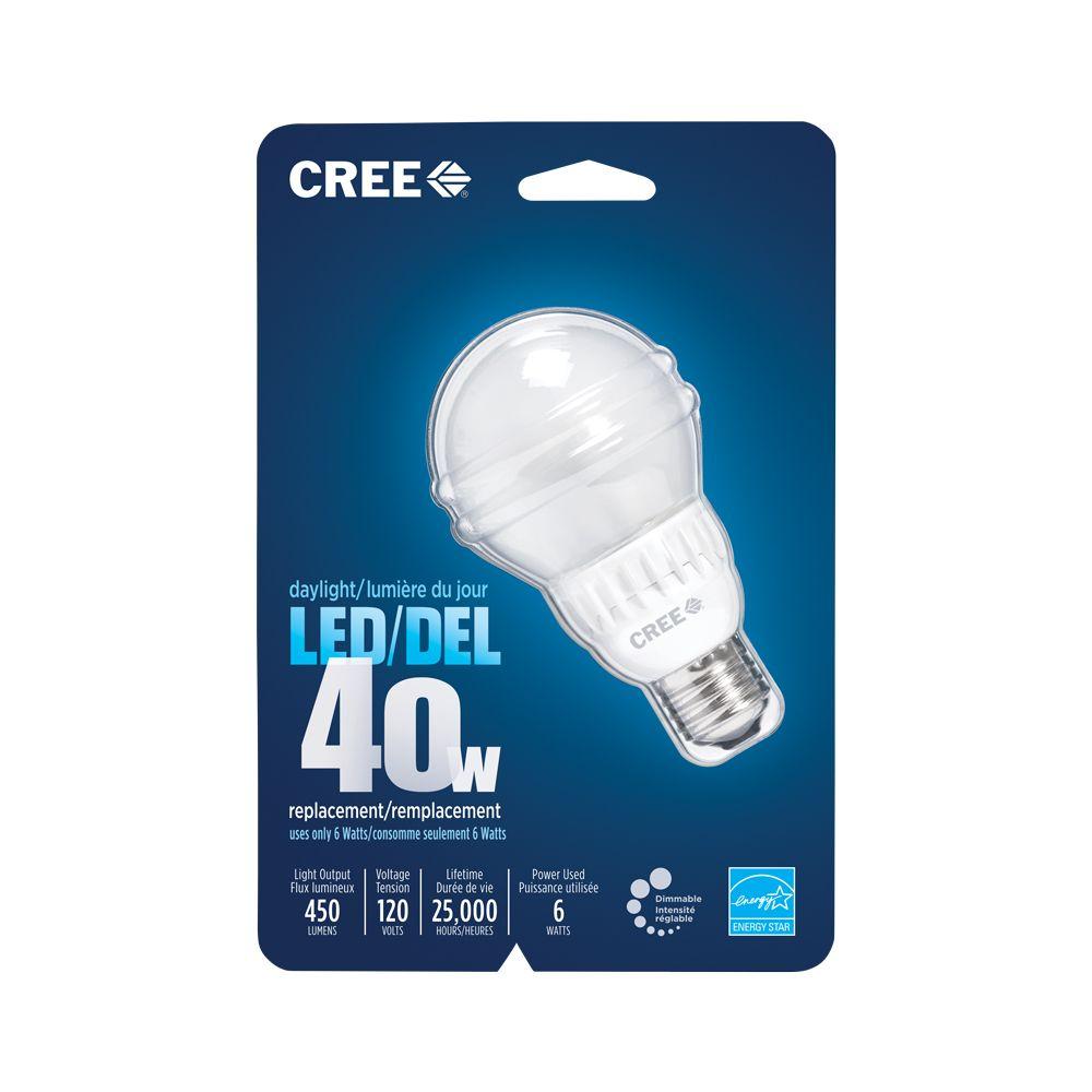 LED A19 6W Daylight BA19-04550OMF-12DE26-2U200 in Canada